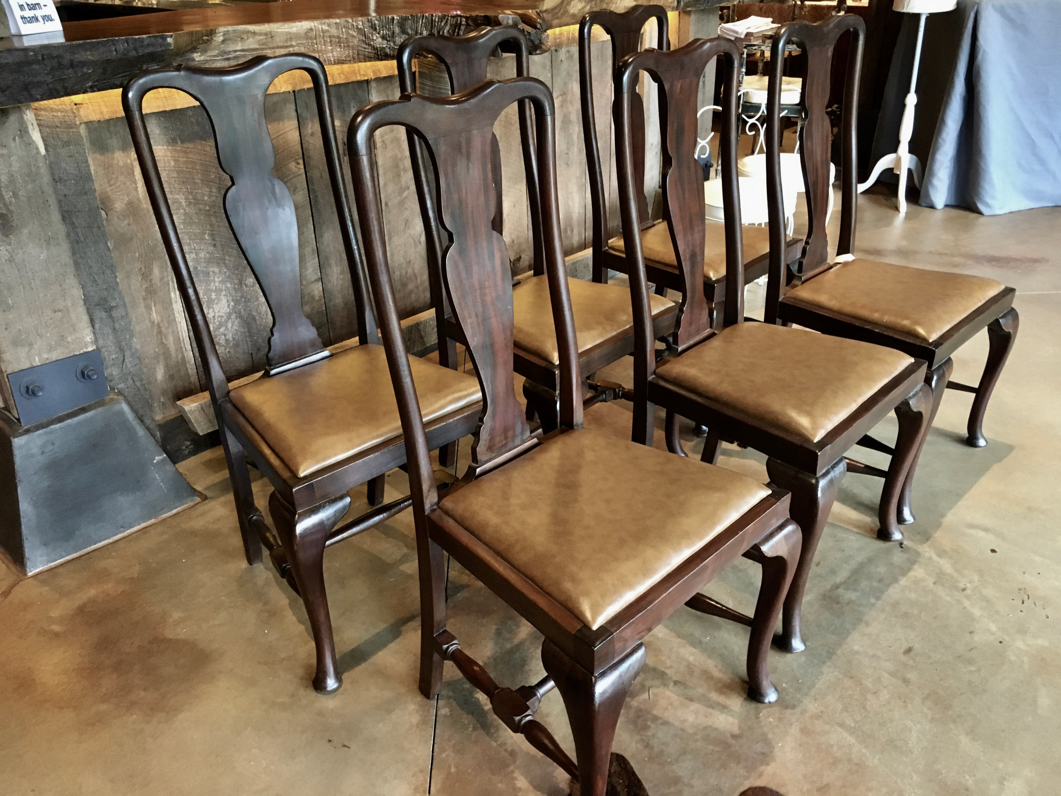 Swell Queen Anne Chairs Set Of 6 Chairs Antique Queen Anne Gamerscity Chair Design For Home Gamerscityorg